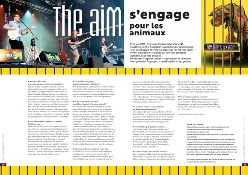 Interview Guillaume Corpard - The aiM - Alternatives Végétariennes Magazine - juin 2014 - Association Végétarienne de France