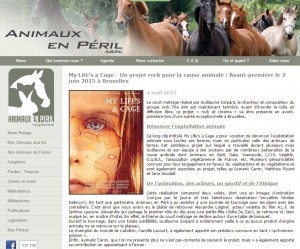 Animaux en Péril - news 2015 - My Life's a Cage