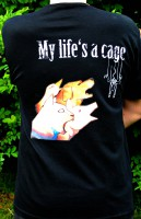T-Shirt Cage dos (taille mixte M)