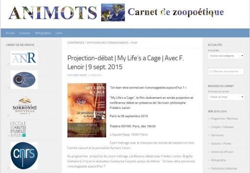 CARNET DE RECHERCHE ANIMOTS (EHESS-CNRS) - AOUT 2015