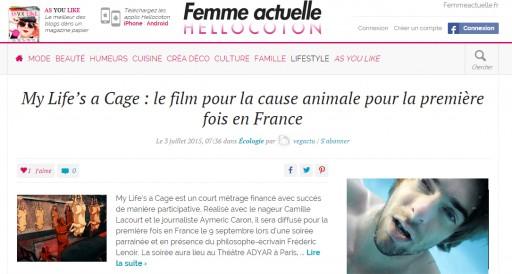 FEMME ACTUELLE - HELLO COTON - aout 2015