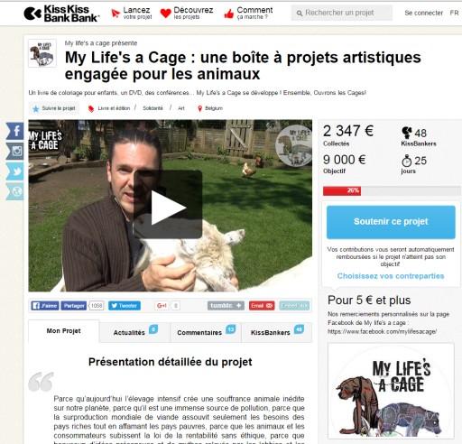 Rejoignez nous sur : https://www.kisskissbankbank.com/my-life-s-a-cage-une-boite-a-projets-artistiques-engagee-pour-les-animaux