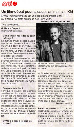 Guillaume Corpard Interview - Ouest-France - 13-01-16