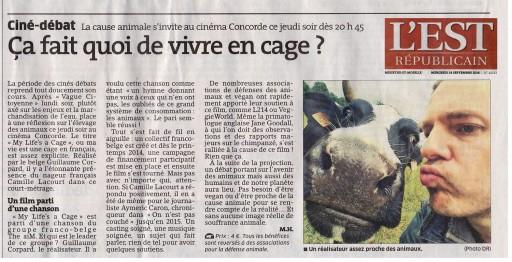L'Est Républicain - Guillaume Corpard - My Life's a Cage